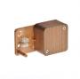 65002-08М Тусо Коробка распаечная для кабель-каналов размер 55х55х32 мм 2 клемника цвет дуб на темной основе