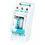INCA DUO QRD Электромеханический двухмодульный таймер, 1 канал (сутки), минимальное время переключения 15 минут, монтаж на DIN-рейку, IP20, аккумулятор минимум 100 часов
