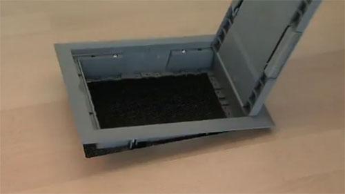 Пример монтажа напольных лючков Kopobox в фальшпол - Фото 3