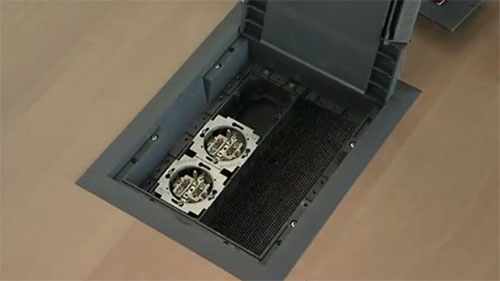 Пример монтажа напольных лючков Kopobox в фальшпол - Фото 6